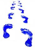 печать ноги иллюстрация вектора