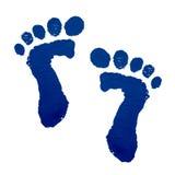 печать ног младенца Стоковые Изображения