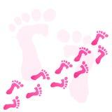 печать ног младенца Стоковая Фотография RF