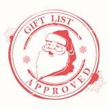 Печать рождества с пятнами, помарками и силуэтом головы Санта Клауса иллюстрация штока