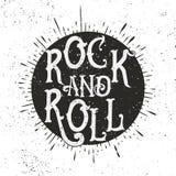 Печать рок-музыки Стоковые Изображения RF