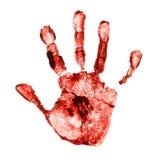 печать руки пугающая Стоковые Фотографии RF