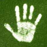 печать руки травы иллюстрация штока