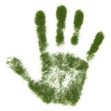 печать руки травы иллюстрация вектора
