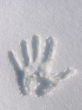 печать руки Стоковая Фотография