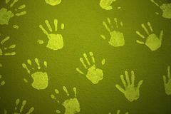 печать руки Стоковое Изображение