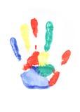 печать руки Стоковые Изображения