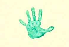 печать руки childs стоковое изображение