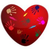 печать сердца иллюстрация штока