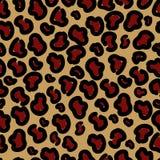 Печать стильного леопарда безшовная Формат вектора бесплатная иллюстрация