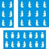 Печать с белыми медведями игрушки Бесплатная Иллюстрация