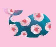 Печать с китом бесплатная иллюстрация