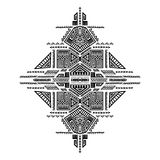 Печать творческого вектора племенная Стоковое Фото