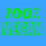 печать 100% текста vegan Стоковое Изображение RF