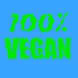 печать 100% текста vegan Стоковая Фотография RF