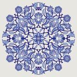 Печать украшения арабескы винтажная элегантная флористическая для tem дизайна Стоковые Фото