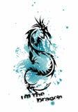 Печать футболки дракона Стоковые Изображения RF