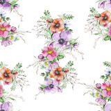 Печать цветка акварели Стоковая Фотография