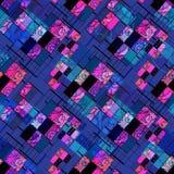 Печать цветов геометрической абстрактной картины элементов безшовной ретро бесплатная иллюстрация