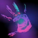 печать черной руки Стоковая Фотография