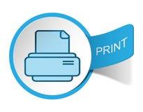 Печать ярлыка Стоковое фото RF