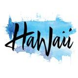Печать для тенниски hawaii Литерность руки иллюстрация вектора