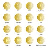 Coins of various countries. vector illustration