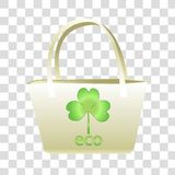 Vector illustration of female bag with a print. royalty free illustration