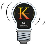 Vector lamp with currency sign - kip laos, LAK vector illustration