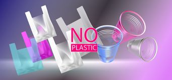 Vector illustration of cellophane bags and plastic bags. vector illustration
