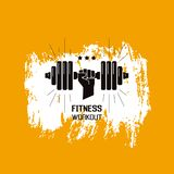 Fitness workout sign stock images