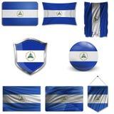 Set of national flag stock illustration
