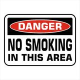 NO SMOKING prohobition forbidden sign vector illustration. Warning, danger, no smoking in this area vector illustration