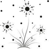 Seamless dandelion pattern, vector seamless royalty free illustration
