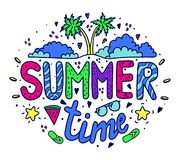 Bright summer lettering. Print on clothes. royalty free illustration