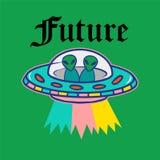 Печать UFO иллюстрация вектора