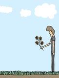 Печаль/смерть оплакивая бесплатная иллюстрация