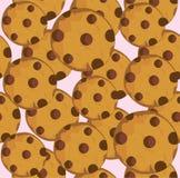 Печенье вектора безшовное иллюстрация штока