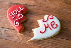 печенье влюбленности сердца Стоковые Изображения