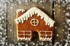 Печенье дома пряника рождества домодельное Стоковое фото RF