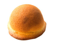 Печенье и заполнять плюшки сыра insied на белизне Стоковое Изображение RF