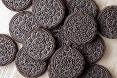 Печенье и сливк стоковое изображение