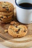 Печенье и черный кофе Стоковые Изображения