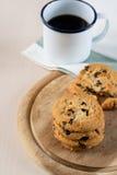 Печенье и черный кофе Стоковое фото RF