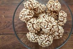 Печенье какао с сопенным рисом Стоковое Изображение