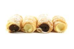 печенье конуса заполненное сливк Стоковое Изображение RF