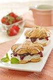 Печенье клубники Стоковая Фотография