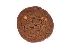Печенье масла гайки анакардии шоколада изолированное на белой предпосылке Стоковые Фото