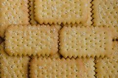 Печенье масла с предпосылкой текстуры сезама Стоковое фото RF