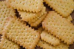 Печенье масла с сезамом Стоковые Фотографии RF